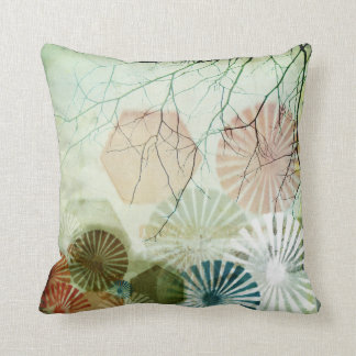 Pattern- original digital collage art throw pillow