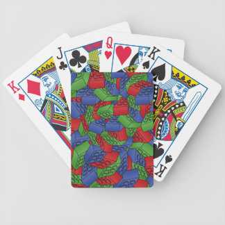 Pattern - Primary Colours Building Blocks Bicycle Playing Cards