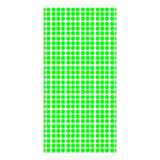 Pattern White Background with Green Circles Photo Card