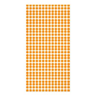 Pattern White Background with Orange Circles Custom Photo Card
