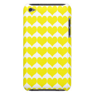 Pattern White Background with Yellow Hearts iPod Touch Case-Mate Case