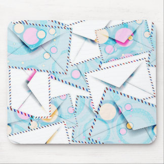Pattern With Colorful Envelopes Mouse Pad