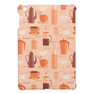 Pattern with drinks and text case for the iPad mini