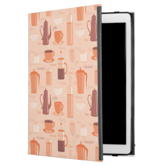 """Pattern with drinks and text iPad pro 12.9"""" case"""