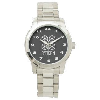 Pattern Women's Oversized Silver Bracelet Watch
