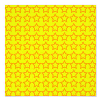 Pattern: Yellow Background with Orange Stars Custom Announcements
