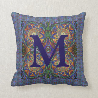 Patterned Monogram Throw Pillow