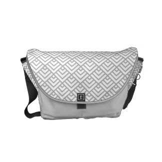patterns05 GRAY Commuter Bags