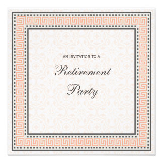 Patterns & Borders 1 - Retirement Party Invitation
