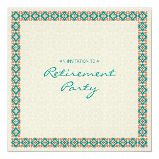 Patterns & Borders 3 Retirement Party Invitation