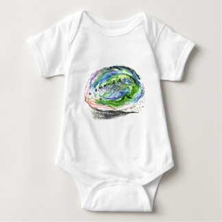 Paua - abalone shell designs baby bodysuit