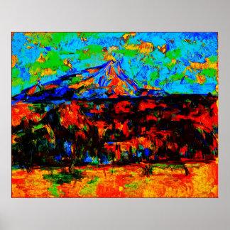 Paul Cézanne - Mont Sainte-Victoire (Modified) Poster