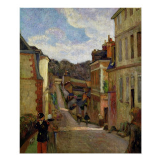 Paul Gauguin   A Suburban Street, 1884 Poster