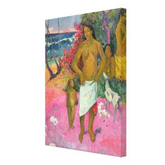 Paul Gauguin   A Walk by the Sea, 1902 Canvas Print
