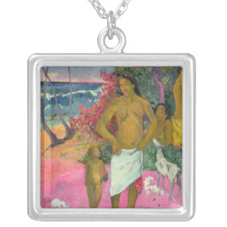 Paul Gauguin | A Walk by the Sea, 1902 Silver Plated Necklace