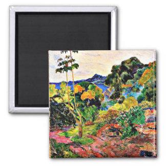 Paul Gauguin art: Martinique Landscape Square Magnet