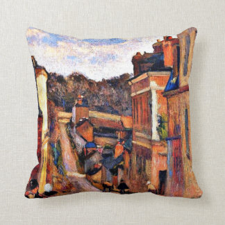 Paul Gauguin art: Rue Jouvenet, Rouen Cushion
