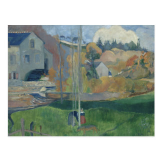 Paul Gauguin - Landscape in Brittany Postcard