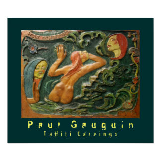 Paul Gauguin: Tahiti Carvings Poster