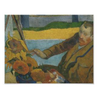 Paul Gauguin -Vincent van Gogh Painting Sunflowers Art Photo