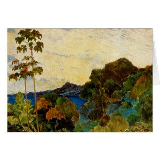 Paul Gauguin's Martinique Landscape (1887) Greeting Card