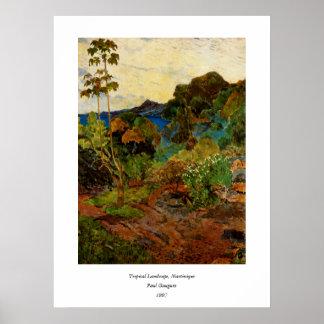 Paul Gauguin's Martinique Landscape (1887) Poster