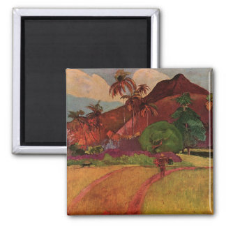 Paul Gauguin's Tahitian Landscape (1893) Square Magnet