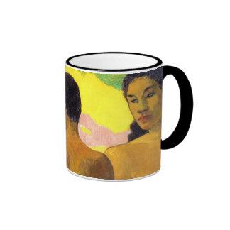 Paul Gauguin's Three Tahitians (detail) Ringer Mug