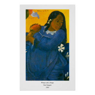 Paul Gauguin's Woman with a Mango (1892) Poster