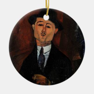 Paul Guillaume, Novo Pilota by Amedeo Modigliani Round Ceramic Decoration