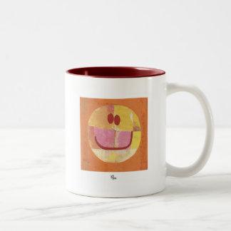 paul klee happy face Two-Tone coffee mug