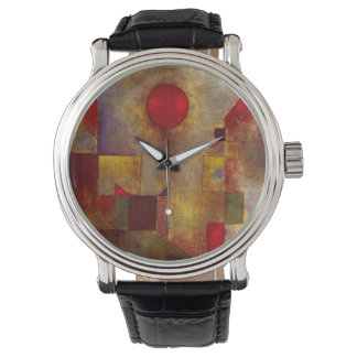 Paul Klee Red Balloon Colorful Abstract Wristwatch