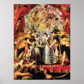 Paul Rubens - Replacing the Medici Princess Print
