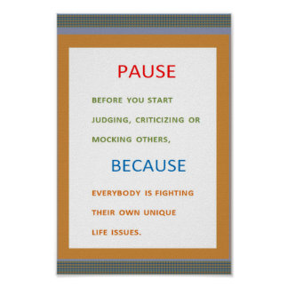 PAUSE don't judge Because ... Poster