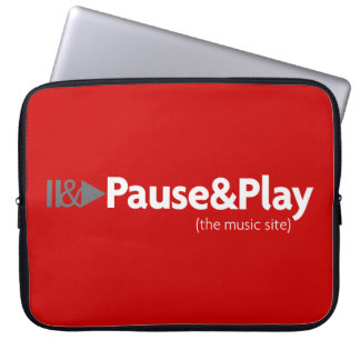 Pause & Play tablet holder Laptop Sleeve