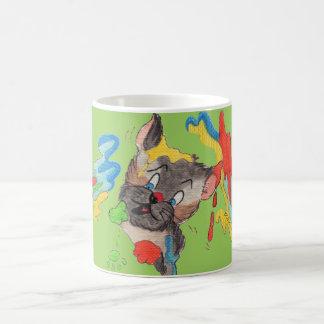Paw Painting Green Classic Mug