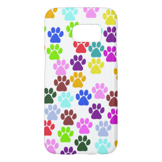 Paw Pattern, Dog Paws, Puppy Paws - Red Blue Green