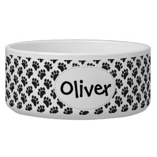 Paw Pattern Pet Food Bowl