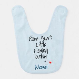 Paw Paw's Little Fishing Buddy Baby Bib Customize
