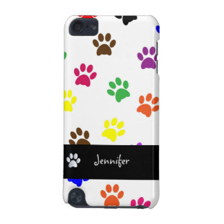 Paw print dog custom girls name ipod touch 4G case