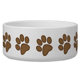 Paw Print Dog Pet  Bowl Gift Dog Water Bowls