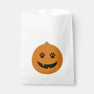 Paw Print Jack-o-Lantern Favor Bag Favour Bags