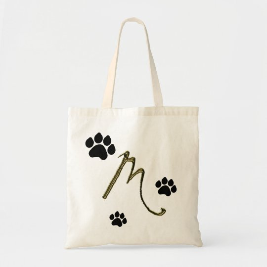 Paw Print Monogram Bag