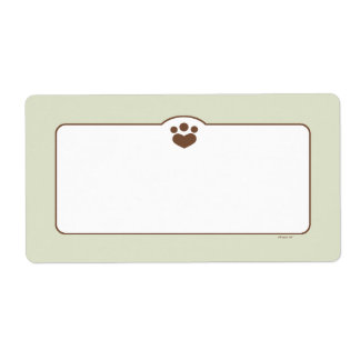 Paw Print Off-Leash Art™ Pet Bin Organization Shipping Label