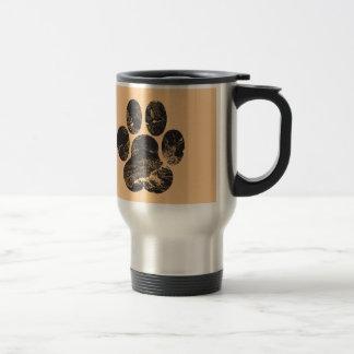 Paw Print Stainless Steel Travel Mug