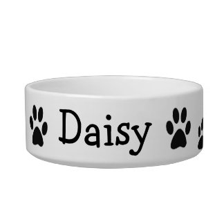 Paw Prints Custom Dish Pet Food Bowls