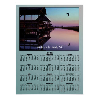 Pawleys Island Creek Docks 2012 Calendar Print