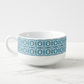 Paws-for-Soup Mug (Teal) Soup Mug