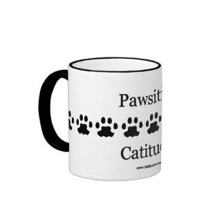 Pawsitive Catitude! Ringer Mug