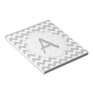 Paynes Grey Chevron with Custom Text Memo Note Pad